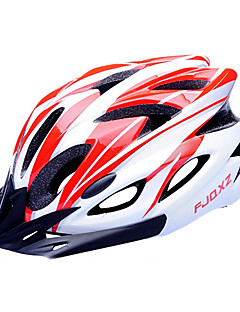 FJQXZ EPS + PC Red and White integrálně tvarovaný na kole helmu (18 Větrací otvory)