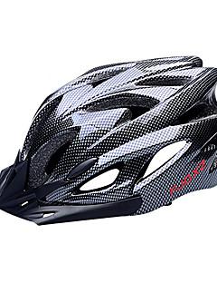 FJQXZ EPS+PC Black Integrally-molded Cycling Helmet(18 Vents)