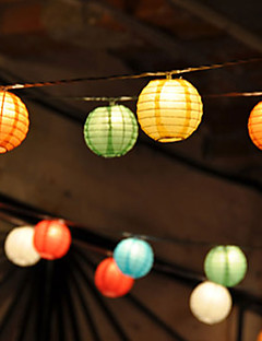 10pcs Solar Chinese Party Lantern String Lights