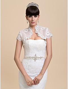 Wedding / Party/Evening Organza Coats/Jackets Short Sleeve Wedding  Wraps