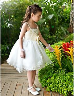 Linea-A Da ballo Da principessa Alla caviglia Abito da damigella d'onore bambina - Chiffon Di pizzo Raso Tulle A sottoveste conFiocco