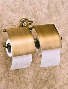 トイレットペーパーホルダー アンティークブロンズ ウォールマウント 31*7*13cm(12.2*2.75*5.11inch) 真鍮 アンティーク