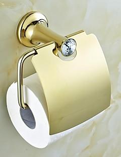 Samtida Golden Crystal Mässing toalettpappershållare