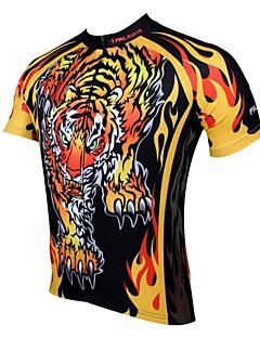 PaladinSport Mænds foråret og sommeren Style 100% Polyester Kortærmet Cycling Jersey