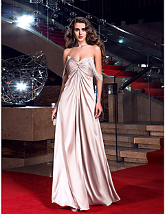 Formal Evening/Prom/Military Ball Dress Plus Sizes Sheath/Column Sweetheart Floor-length Stretch Satin