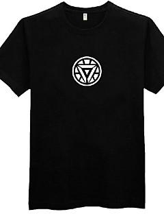 T-shirt dos homens Cosplay Admirável herói negro Poliéster