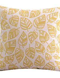 Or Feuilles coton / lin coussin décoratif couverture