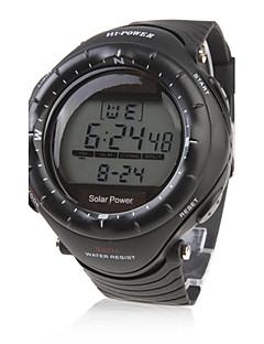 Pánské Sportovní hodinky Módní hodinky Náramkové hodinky Křemenný Silikon Kapela Černá Černá