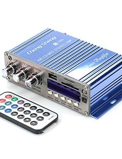 AT9008 DC12V 80W 2-kanals bas / diskant bilforstærker HiFi med USB SD FM MP3