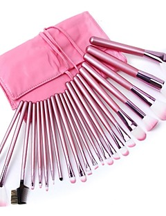 22PCS Professional Soft Cosmetic Makeup Brush Set Kit and Pink Pouch Bag Case