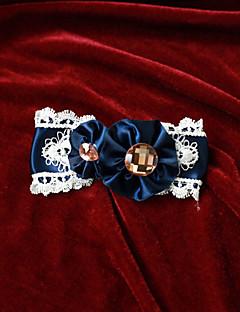Sieraden Klassiek en Tradtioneel Lolita Hoofddeksels Prinses Wit / Zwart / Blauw Lolita Accessoires Helm Strik / Effen Voor Heren / Dames