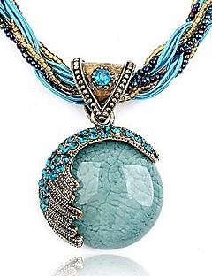 Femme Pendentif de collier Bracelet Forme Ronde Cristal Strass Mode Européen Bohême Personnalisé bijoux de fantaisie Bijoux Pour Soirée