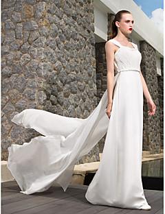 웨딩 드레스 - 아이보리(색상은 모니터에 따라 다를 수 있음) A 라인/프린세스 바닥 길이 스트랩 조젯 플러스 사이즈