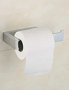 """Porte Papier Toilette Chrome Fixation Murale 160 x85 x37mm(6.3""""x3.34""""x1.46"""") Laiton Contemporain"""