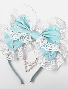 Lolita Jewelry Sweet Lolita Headwear Princess Blue Lolita Accessories Headpiece Bowknot For Women Cotton
