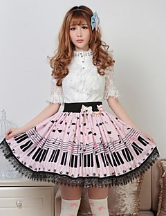 Pink Pretty Lolita Key and Cat Princess Kawaii Skirt Lovely Cosplay
