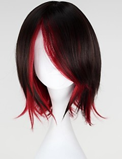 Cosplay Wigs RWBY Ruby Black / Red Short Anime Cosplay Wigs 35 CM Heat Resistant Fiber Female
