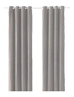 (One Panel Grommet Top) Modern Minimalist Solid Energy Saving Curtain