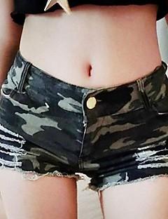 Kvinners Club High Waist Shorts Camouflage Jeans Show Thin Hot Pants