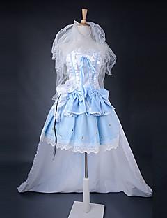 Inspirado por Macross Frontier Sheryl Nome Animé Disfraces de cosplay Trajes Cosplay Retazos Azul Vestido / Tocados / Brazalete