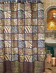 Abstract Artistiek Leopard Print Douchegordijn