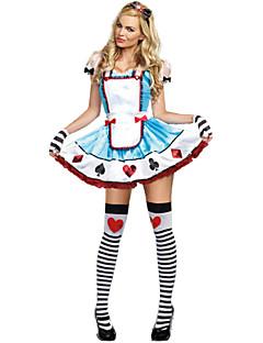 Alice Poker Terylene Halloween Female Maid Uniforms