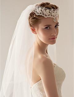 Vjenčani velovi Two-tier Prsta Burke / Headpieces s velom 47.24 u (120cm) Til Bijela Bijela / SlonovačaRetka, Ball haljina, princeza,