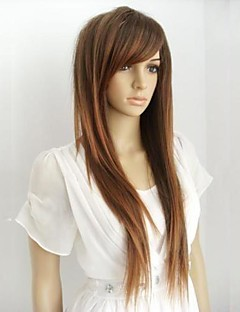 New Long Brown Yellow Straight Hair Wig