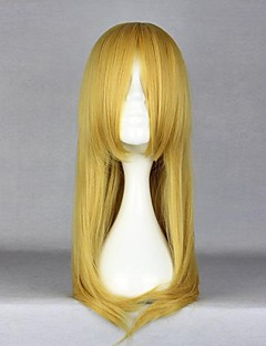 Cosplay Wigs Cosplay Kirino Kosaka Yellow Medium Anime Cosplay Wigs 55 CM Heat Resistant Fiber Female