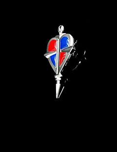 תכשיטים קיבל השראה מ Blue Exorcist קוספליי אנימה אביזרי קוספליי שרשרת אדום / כחול / כסף סגסוגת זכר
