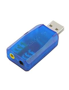 Professional 3D Sound and Virtual 5.1-Surround USB 2.0 External Audio Sound Card