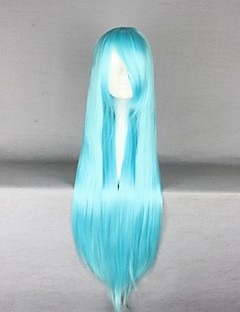 Cosplay Wigs Cosplay Cosplay Blue Long Anime Cosplay Wigs 80 CM Heat Resistant Fiber Female