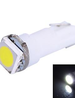 0.25W T5 14LM 1x5050SMD LED bianco per l'automobile Indicate Dashboard Larghezza Lampade (12V 1Pcs DC)