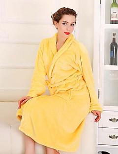 Bademantel Gelb,Solide Gute Qualität 100% Koral Faserpelz Handtuch