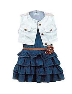 Girl's Clothing Set,Cotton / Denim Summer Blue