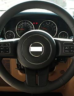 Cubierta del volante del cuero genuino Xuji ™ Negro para 2012 Jeep Compass Grand Cherokee Wrangler Patriot