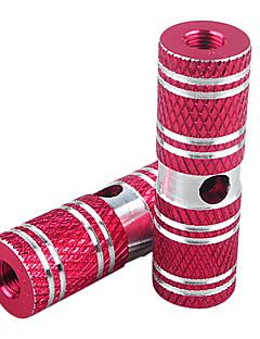 Hanguang 1 par bmx sykkel høy styrke solid aluminiumslegering bak foran aksel røde fothvilere