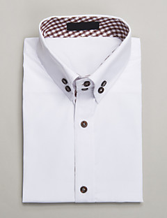 White Cotton Tailored Fit Short Sleeve Shirt