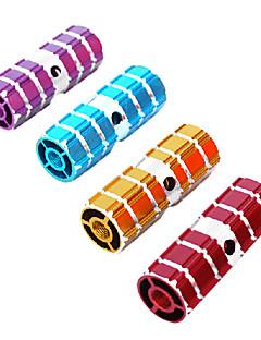 Yuedong 1 para ze stopów aluminium rower bmx przedniej osi tylnych losowych kolorów stóp kołki
