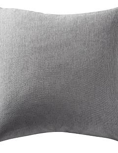 "18 ""x18"" rena grå polyester chenille örngott"
