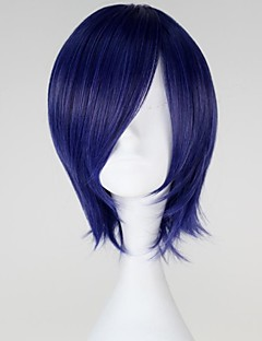Cosplay Wigs Tokyo Ghoul Kirishima Touka Blue Short Anime Cosplay Wigs 32 CM Heat Resistant Fiber Female