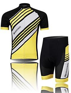 XINTOWN® חולצת ג'רסי ומכנס קצר לרכיבה לגברים שרוול קצר אופניים נושם / ייבוש מהיר / חדירות ללחות / חומרים קלים / תומך זיעה / דחיסהמחממי