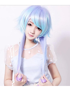 Lolita Wigs Sweet Lolita Color Gradient Long / Straight Blue Lolita Wig 65 CM Cosplay Wigs Patchwork Wig For Women