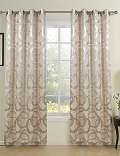 Barroco Minimalist Style Irregular Circles Grommet Curtain (One Panel)