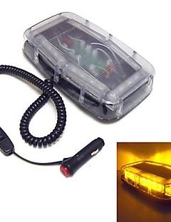 piscar 24 leds mini-barra de luzes impermeáveis luzes de emergência ímã (cores opcionais)