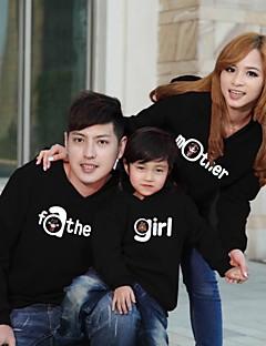 Family's Fashion Joker Leisure Cute Parent Child With Hood Sweatshirts (Random Pattern)