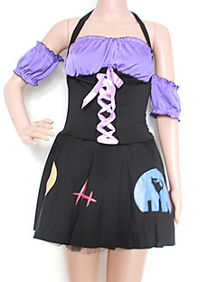Cosplay Costumes / Party Costume Wizard/Witch Festival/Holiday Halloween Costumes Black Patchwork Dress Halloween / Carnival / New Year