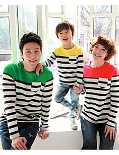 Family's Fashion Joker Leisure Cute Stripe Long Sleeve Parent Child T Shirt
