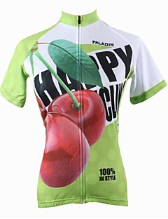 PaladinSport Women's Cherry Spring and Summer Style 100% Polyester Short Sleeved Cycling Jersey