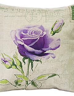 """createforlife® 18 """"rétro violette rose draps en coton coussin décoratif carré"""
